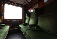 Antiek treinbinnenland Royalty-vrije Stock Foto's