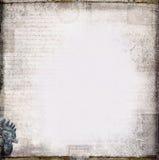 Antiek uitstekend geweven document Stock Foto