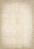 Antiek uitstekend geweven document met manuscript Royalty-vrije Stock Afbeelding