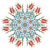 Antiek vectorontwerp negenentachtig van het ottomane Turks patroon Stock Afbeelding