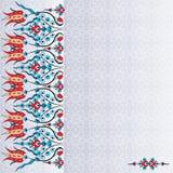 Antiek vectorontwerp zesennegentig van het ottomane Turks patroon Stock Fotografie