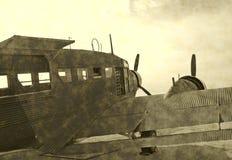 Antiek vliegtuig in oorlogstijd Stock Fotografie
