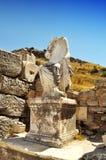 Antiek vrouwenstandbeeld in Ephesus, Turkije Royalty-vrije Stock Afbeelding