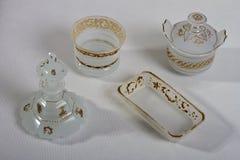 Antiek wit 1840 - 1850 van de parfumfles Stock Afbeeldingen