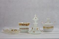 Antiek wit 1840 - 1850 van de parfumfles Stock Fotografie