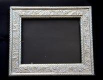 Antiek zilveren frame Stock Afbeeldingen