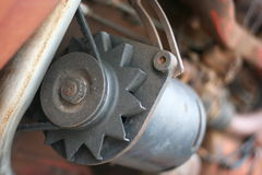 Antieke alternator Stock Foto's