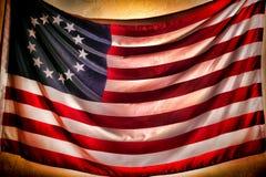 Antieke Amerikaanse Betsy Ross Stars en Strepenvlag Stock Foto