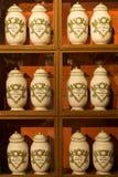 Antieke apotheek, Beaune, Frankrijk Stock Afbeelding