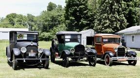 Antieke Auto drie Stock Foto's