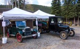 Antieke auto's op vertoning bij de chena hete lentes royalty-vrije stock afbeeldingen