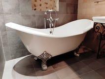 Antieke badkuip stock fotografie