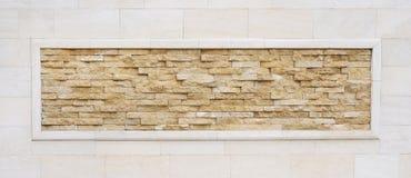 Antieke bakstenen muur met de natuurlijke slanke achtergrond van het steenkader Royalty-vrije Stock Afbeelding