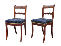 Antieke Biedermeier-stoel met woorgravure Royalty-vrije Stock Afbeelding