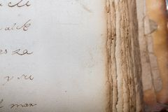 Antieke Boekachtergrond Royalty-vrije Stock Fotografie