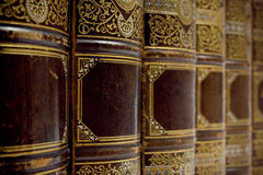 Antieke boeken Stock Foto