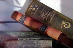 Antieke Boeken Stock Foto's