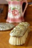 Antieke borstel. stock afbeeldingen