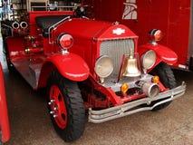 Antieke brandbestrijdersvrachtwagen Royalty-vrije Stock Foto