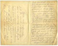 Antieke brief Stock Afbeeldingen
