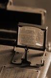Antieke cameralens Royalty-vrije Stock Afbeeldingen