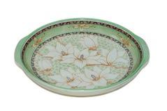 antieke ceramisch geïsoleerd op witte achtergrond stock foto's