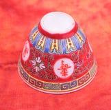 Antieke Chinese kom Royalty-vrije Stock Afbeeldingen
