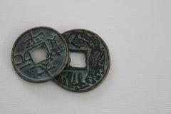 Antieke Chinese muntstukken Stock Foto's