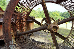 Antieke cilindrische mijnbouwzeef Royalty-vrije Stock Afbeelding