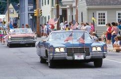 Antieke Convertibles in 4 de Parade van Juli, Centreville, Maryland Royalty-vrije Stock Afbeelding