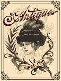 Antieke dame Stock Fotografie