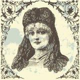 Antieke Dame Royalty-vrije Stock Afbeeldingen