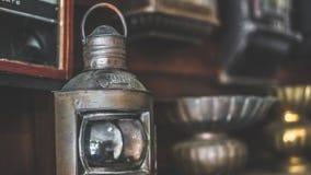 Antieke de Lampfoto van de Metaallantaarn royalty-vrije stock foto