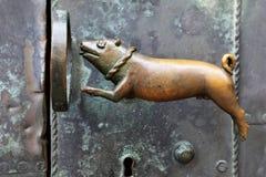 Antieke deurkruk Stock Afbeelding