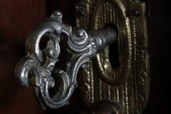 Antieke deursleutel stock foto