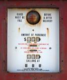 Antieke Dichte Omhooggaand van de Benzinepomp Stock Afbeeldingen