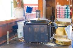 Antieke dichte omhooggaand van de Popcornmachine royalty-vrije stock foto