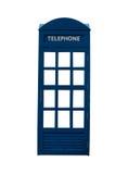 Antieke die telefooncel op wit wordt geïsoleerd Stock Foto