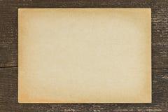 Antieke document uitstekende houten achtergrond Stock Fotografie