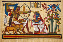 Antieke Egyptische papyrus Royalty-vrije Stock Afbeelding