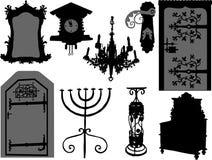 Antieke elementen stock illustratie