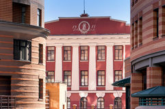 Antieke en Moderne Gebouwen in Kiev Royalty-vrije Stock Afbeelding