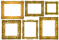 Antieke frames inzameling royalty-vrije stock foto's