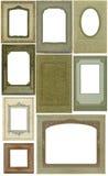 Antieke frames -- negen! stock fotografie