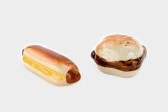 Antieke Frank en Hamburger, Zout en Peperschudbekers Royalty-vrije Stock Afbeelding