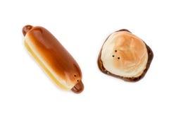 Antieke Frank en Hamburger, Zout en Peperschudbekers Stock Fotografie