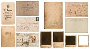 Antieke Franse carte DE visite Uitstekend adreskaartje royalty-vrije stock fotografie