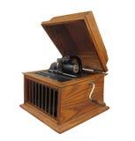 Antieke geïsoleerde cilinderfonograaf Royalty-vrije Stock Foto's