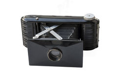 Antieke geïsoleerde fotocamera Royalty-vrije Stock Fotografie