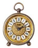 Antieke geïsoleerdee klok. Stock Afbeeldingen